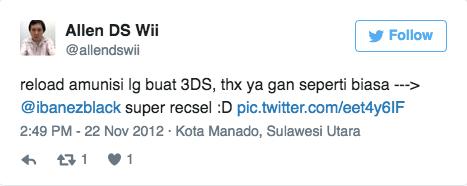 reload amunisi lg buat 3DS, thx ya gan seperti biasa --- data-verified=
