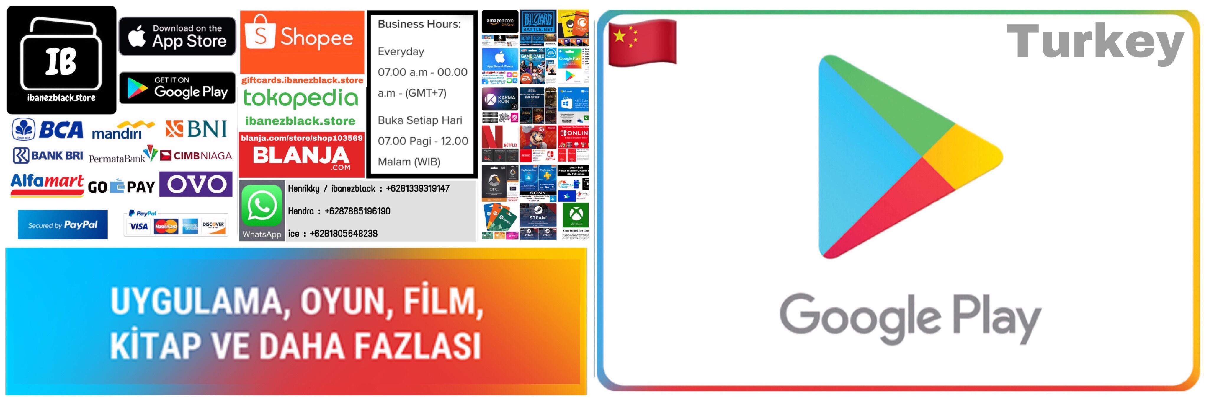 Google Play Gift Card Turkey TRY25 TRY50 TRY100