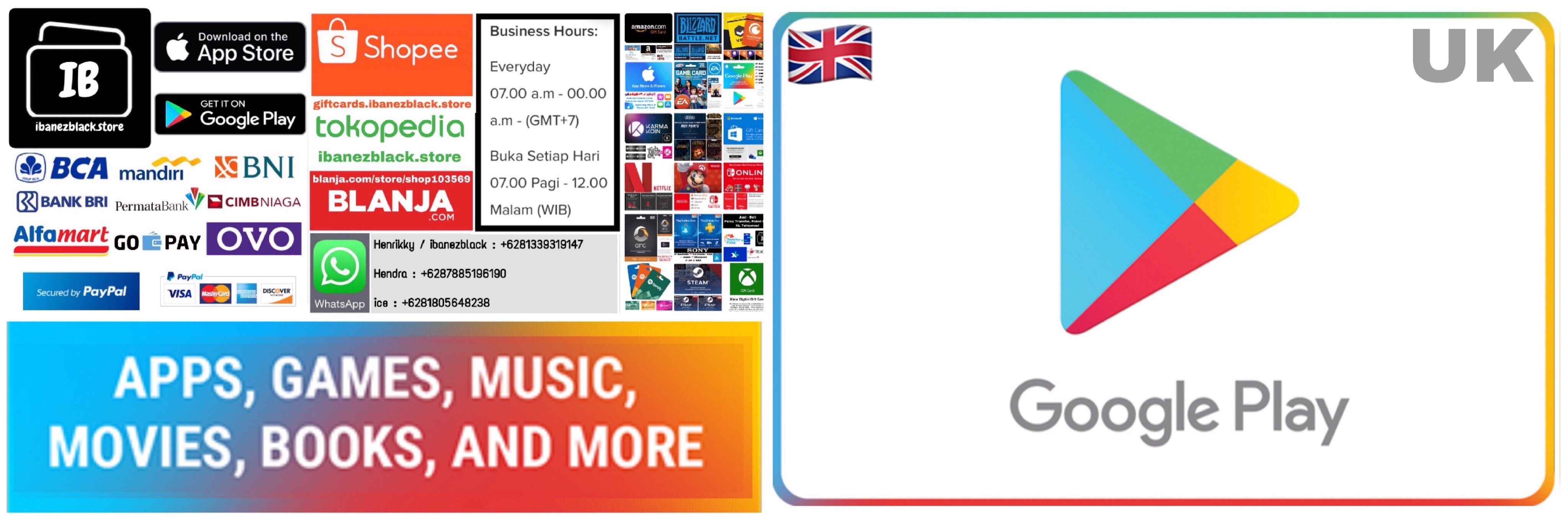 Google Play Gift Card UK £10 £25 £50