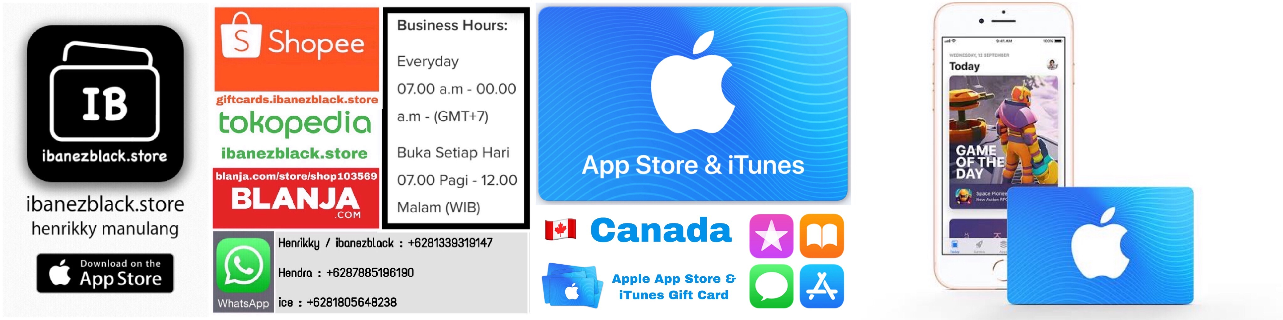 iTunes Gift Card Canada $5 $10 $25