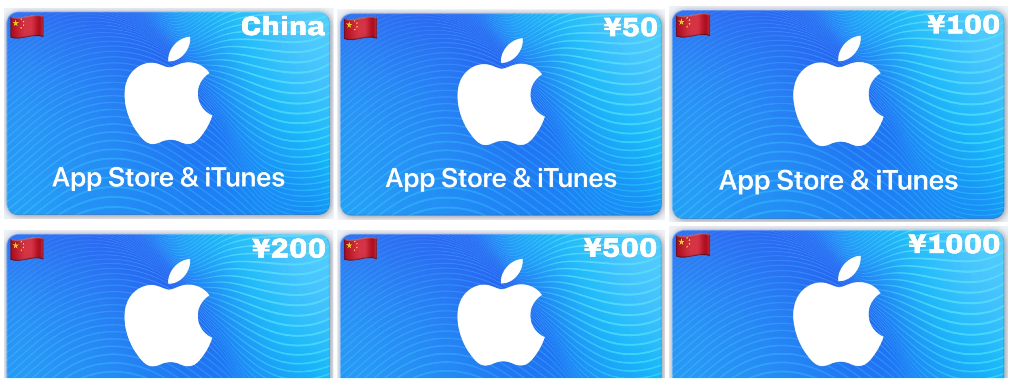 Apple App Store & iTunes Gift Card China ¥50 ¥100 ¥200 ¥500 ¥1000