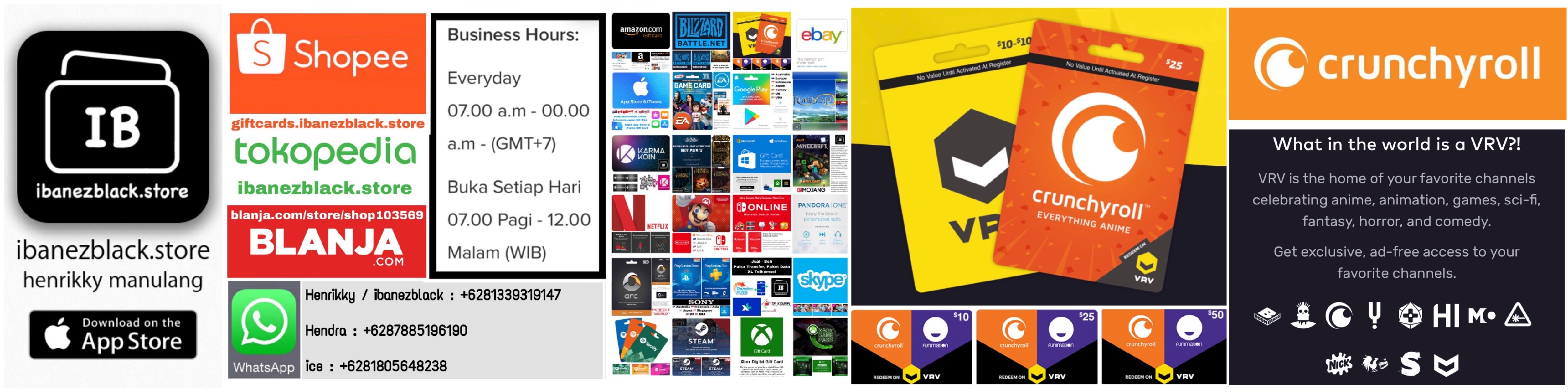 Tersedia Jual Beli Crunchyroll on VRV $10, $25, $50 region US di ibanezblack.store.