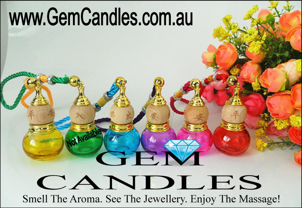 Gem Candles Hanging Car Diffuser