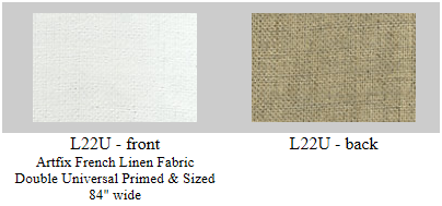 L22U Artfix double universal (acrylic) primed and sized Belgian linen