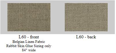 """Rabbit Skin Glue Sized Belgian Linen, 60"""" wide"""