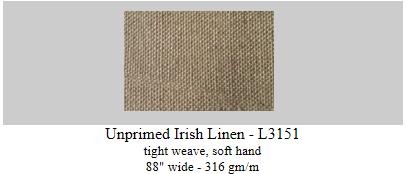 unprimed Irish linen