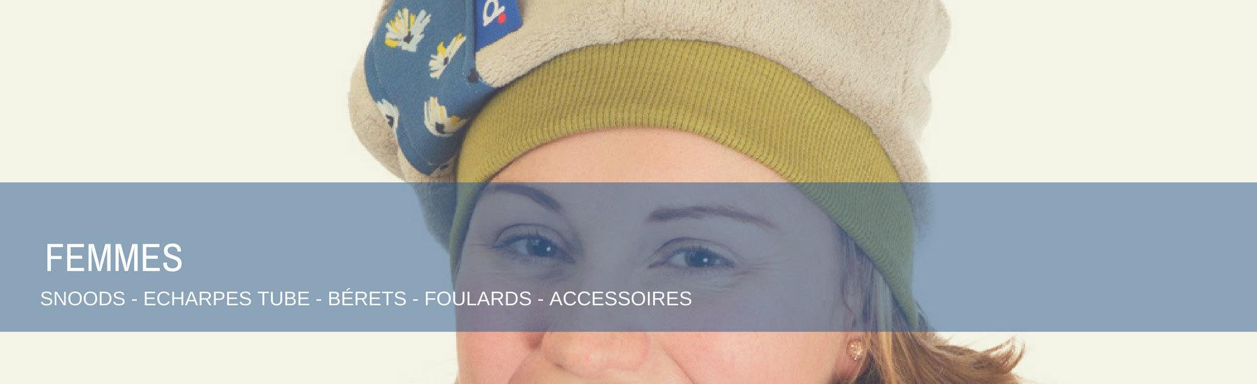 snoods écharpes tube foulards tube béret femme reddepois