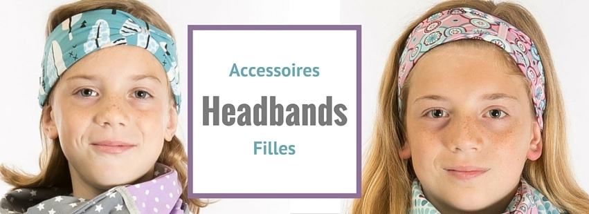 headbands jersey pour filles reddepois