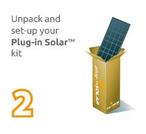 Plug in Solar Panels step 2 Unpack