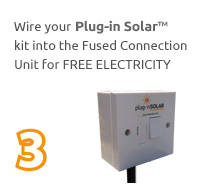 Plug in Solar step 3 Wire in