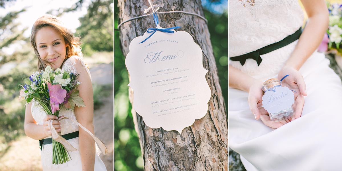 Geschwungene und elegante Hochzeitseinladung
