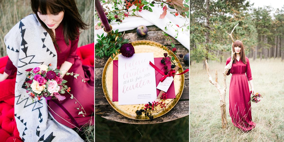 Hochzeitseinladung mit zarter Kalligrafie