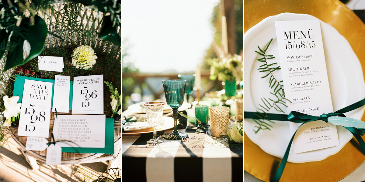 Schlichte und elegante Hochzeitseinladung