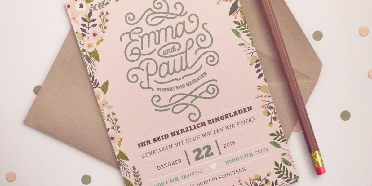 Green Wedding – natürliche Hochzeitseinladung
