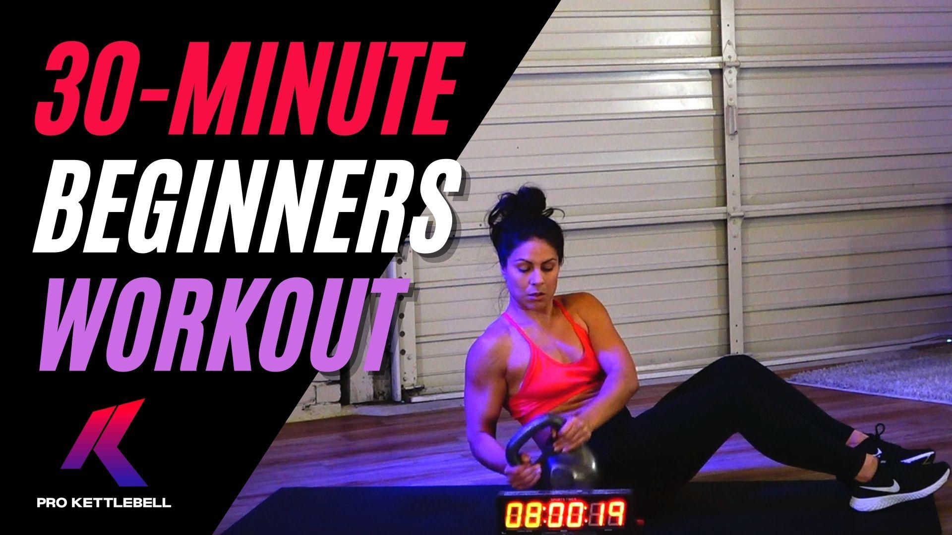 Beginners Kettlebell Workout Class Online
