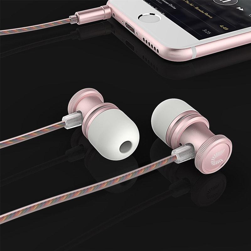 accessoires smartphones - écouteurs filaire avec microphone UiiSii US80 - gris