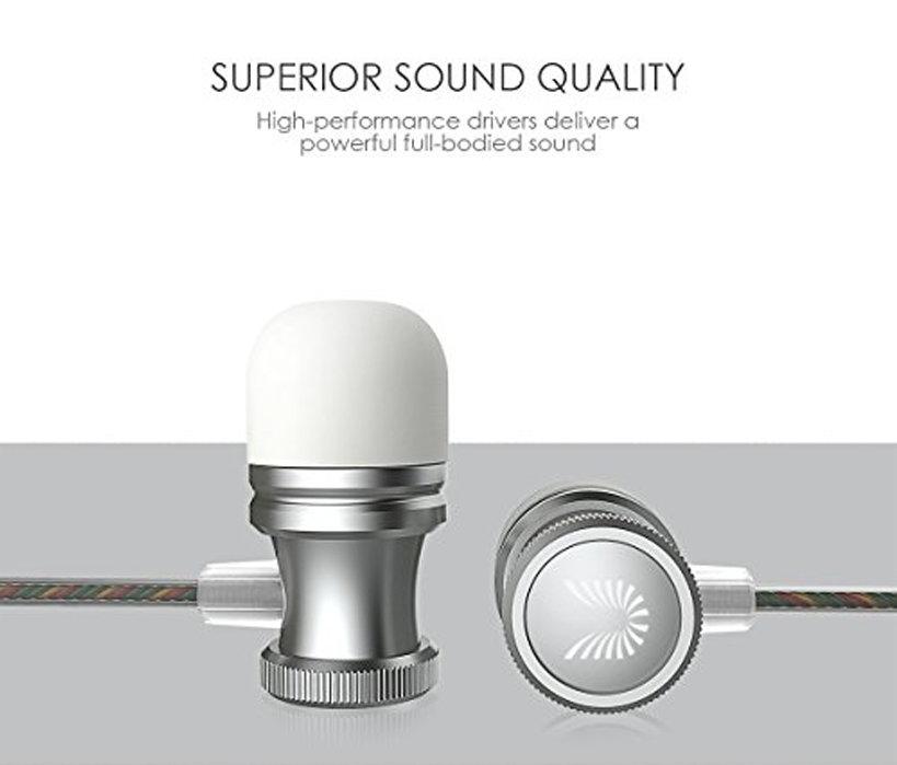 accessoires smartphones - écouteurs filaire avec microphone UiiSii US80 - gris 3