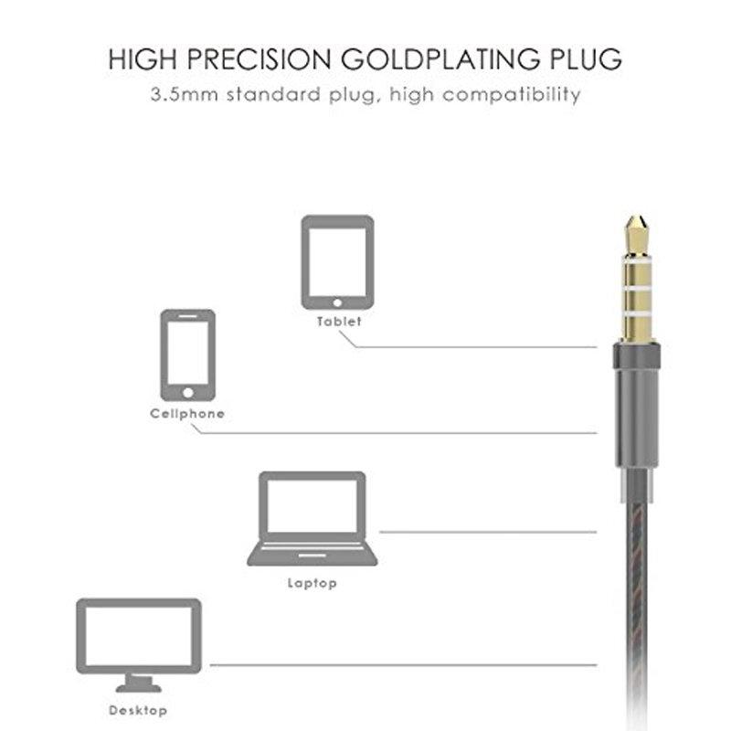 accessoires smartphones - écouteurs filaire avec microphone UiiSii US80 - gris 4