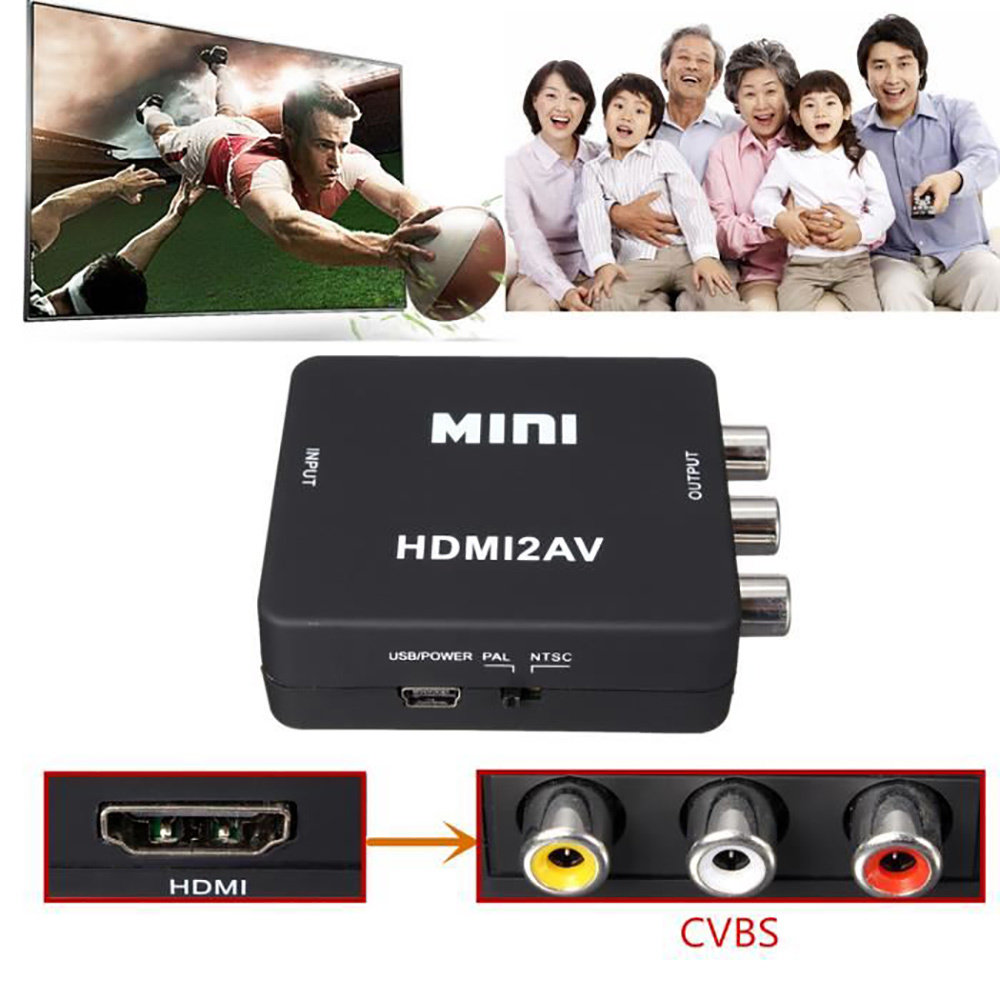 Convertisseur HDMI vers AV RCA - Noir 11
