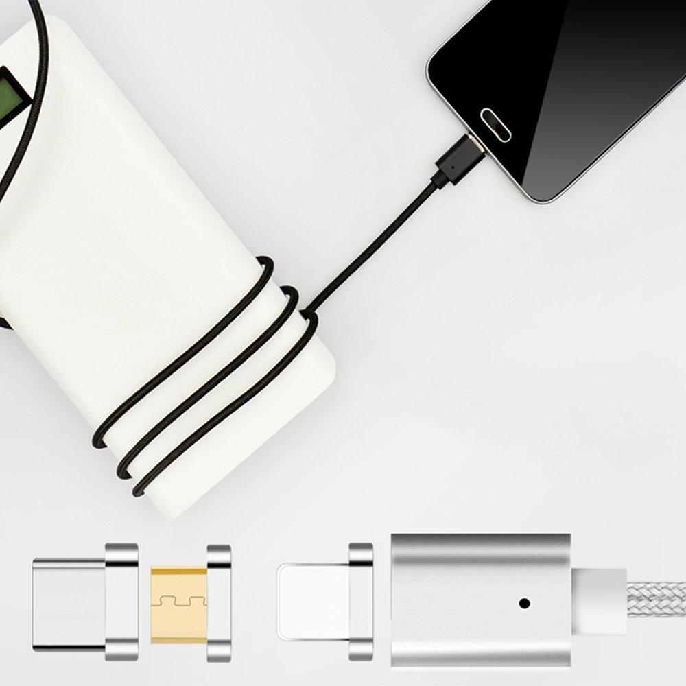 Câble micro USB magnétique 3 en 1 pour Android & iPhone 12