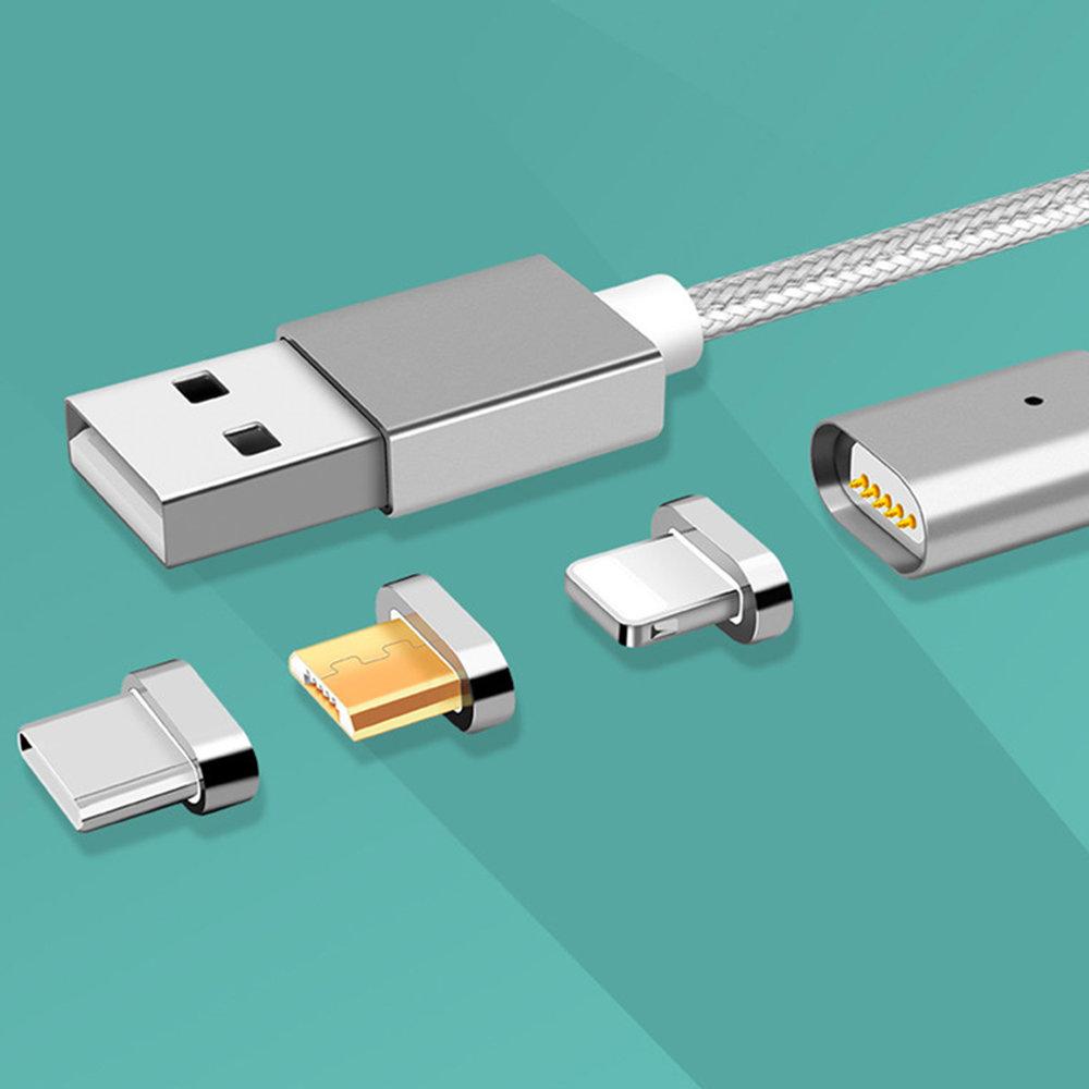 Câble micro USB magnétique 3 en 1 pour Android & iPhone 13