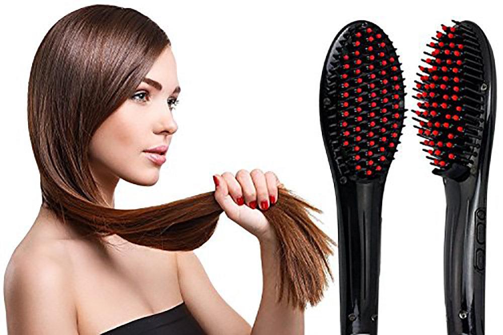 Brosse lissante en céramique pour tous types de cheveux 11