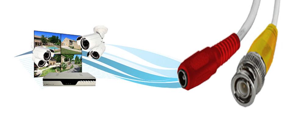 Câble coaxial pour caméra de sécurité et DVR - 5 Mètre 11