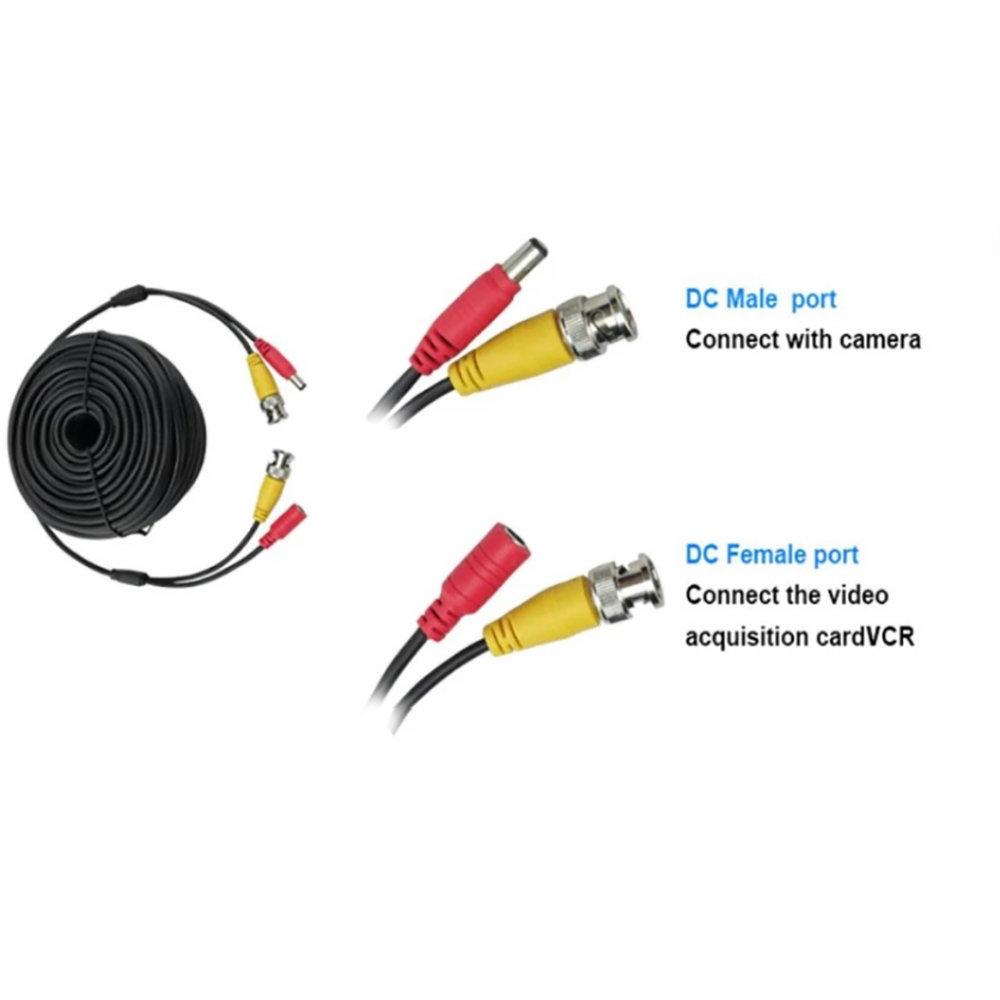 Câble coaxial pour caméra de sécurité et DVR - 5 Mètre 14