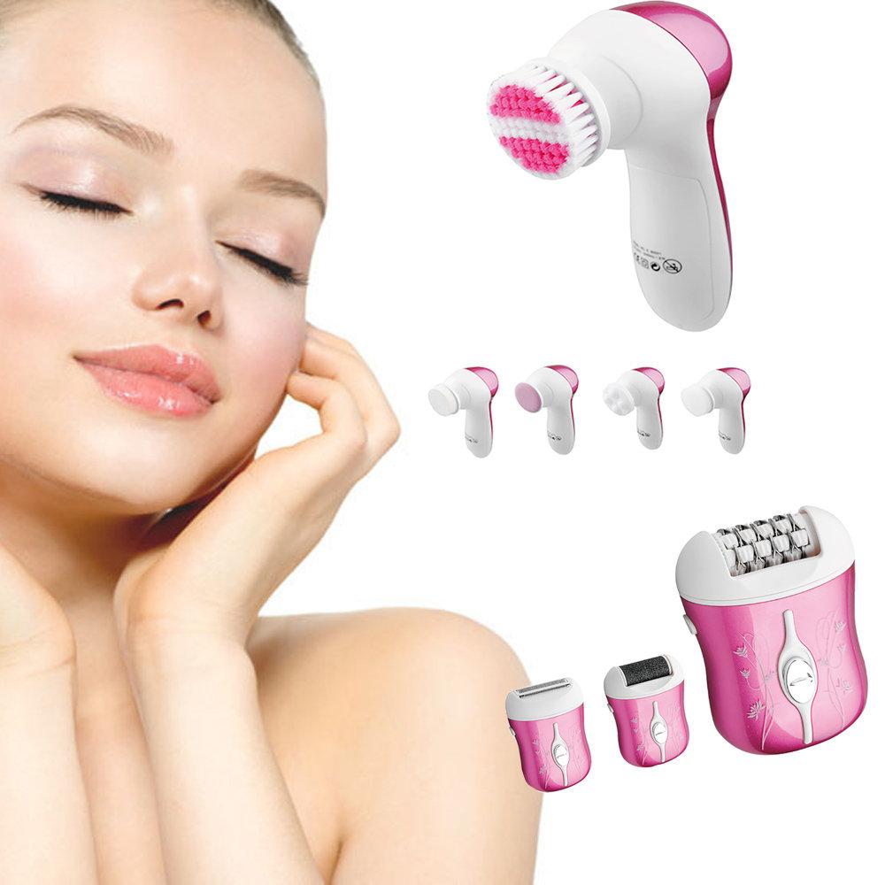 Kit de Soins avec appareil d'épilation 3 en 1 et brosse pour le visage 5 en 1-11