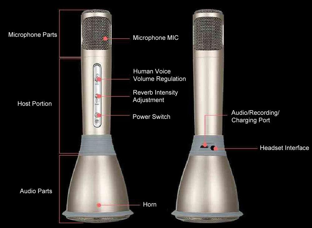 Microphone magique Karaoké avec Bluetooth 14
