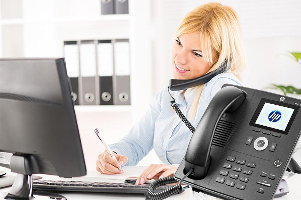 Téléphone de bureau IP Phone HP 4120 - 12