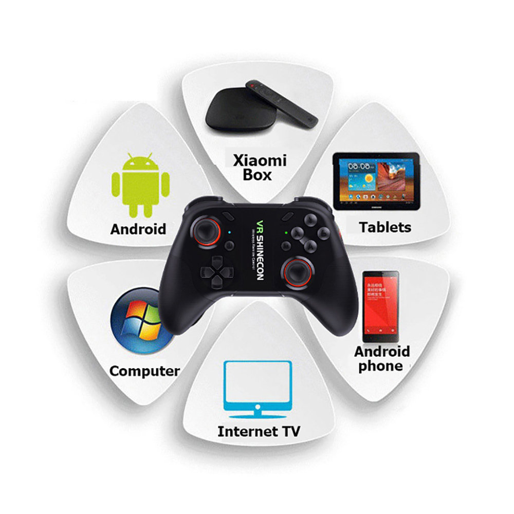 Gamepad Shinecon VR C07 sans fil avec support pour smartphone 11