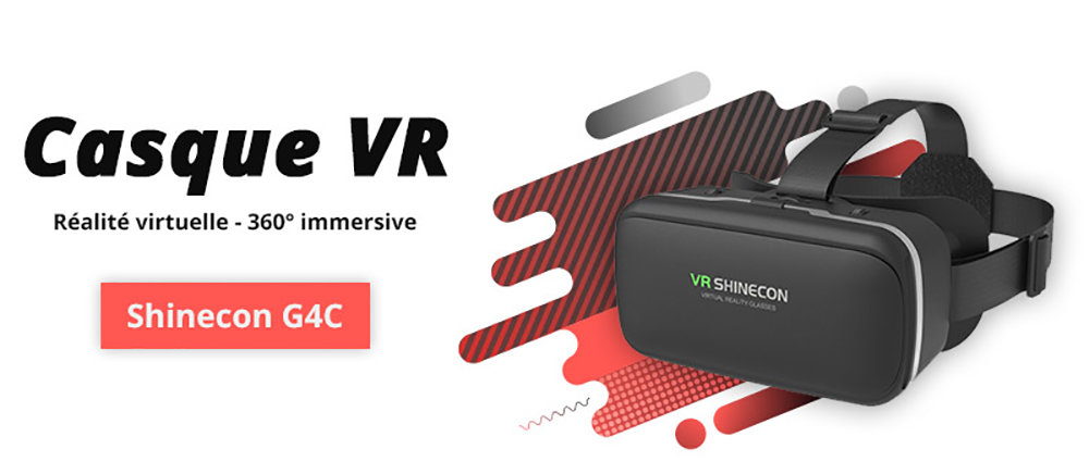 VR Shinecon SC-G04C casque de réalité virtuelle compatible Google Cardboard 11