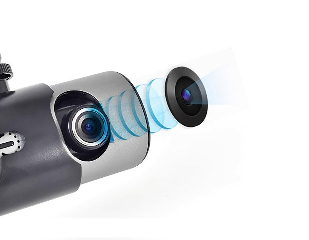 Dashcam double camera embarqué R300 avec GPS et détecteur de gravité 12