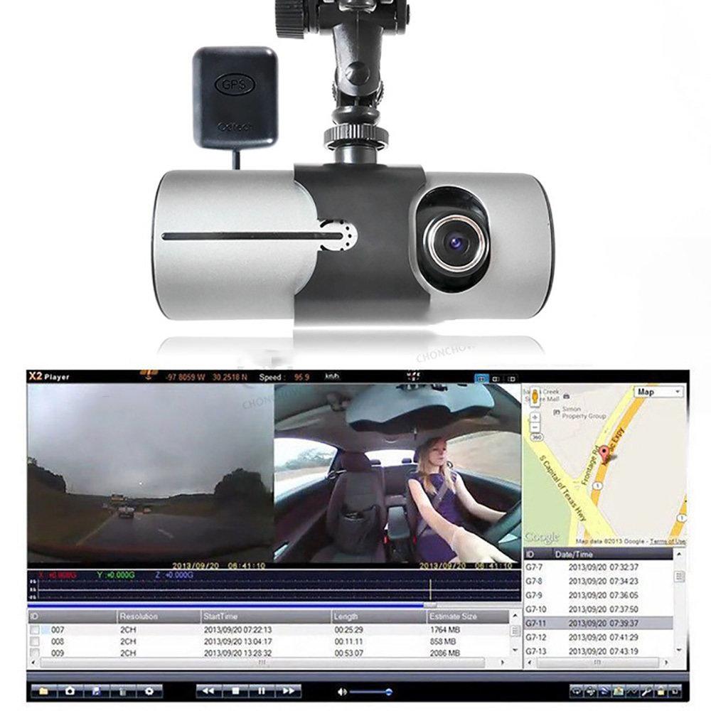 Dashcam double camera embarqué R300 avec GPS et détecteur de gravité 17
