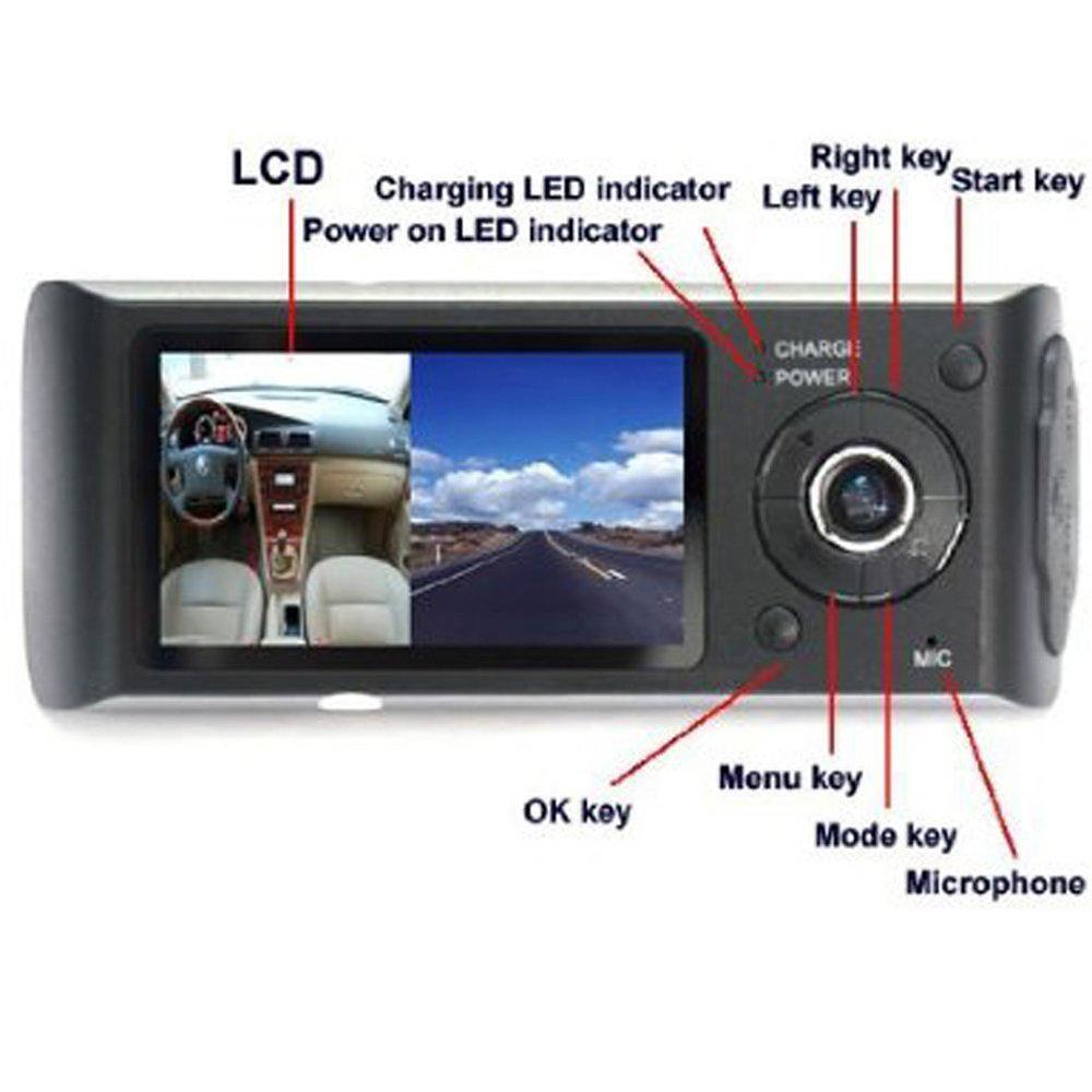 Dashcam double camera embarqué R300 avec GPS et détecteur de gravité 14