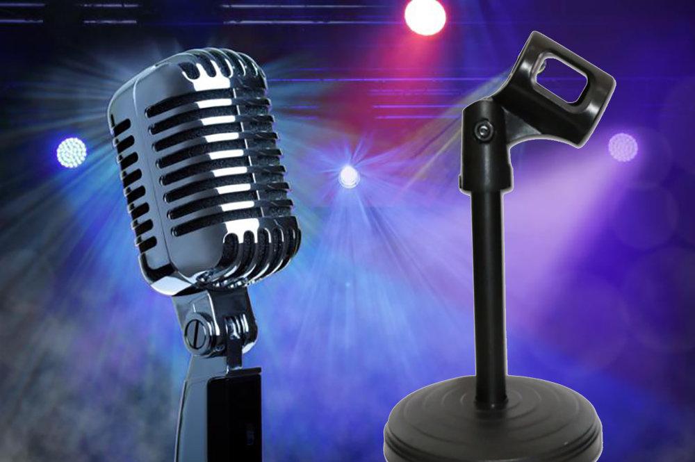 Support réglable pour microphone 11
