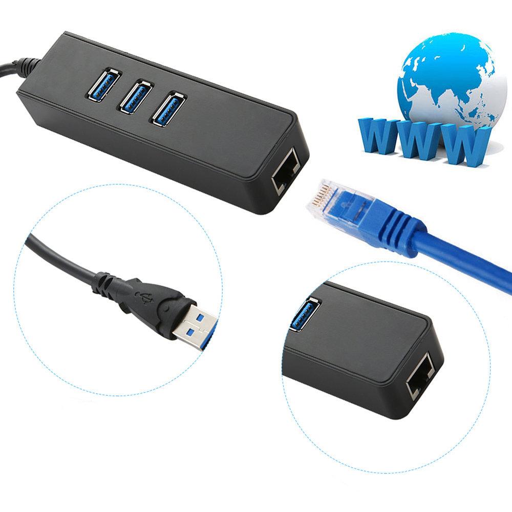 Concentrateur USB 3.0 à 3 ports et adaptateur réseau LAN - 13