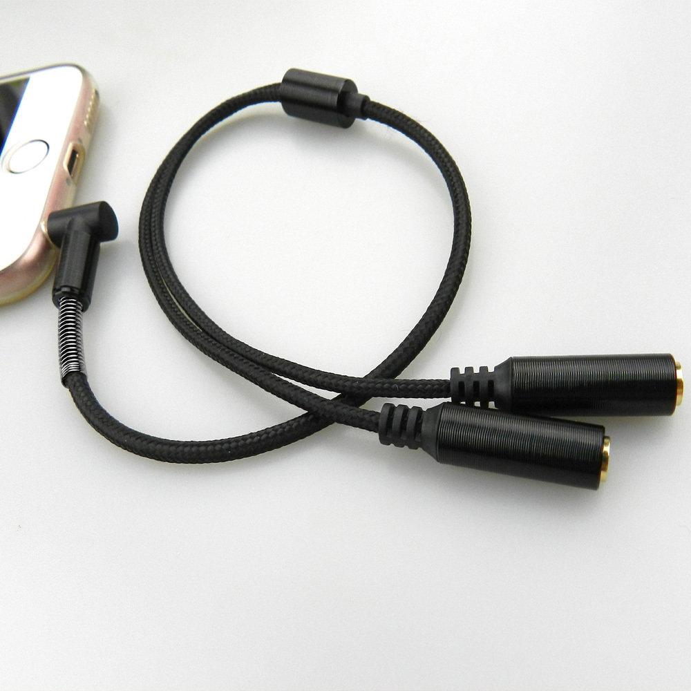 Câble AUX Splitter 3.5 mm - Noir - 11