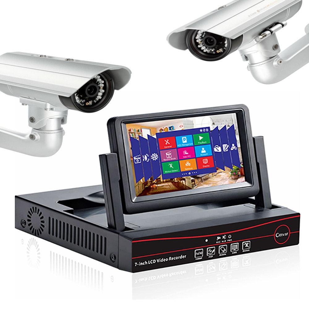"""NVR avec ecran LCD 7"""" pour 4 caméras de sécurité IP 11"""