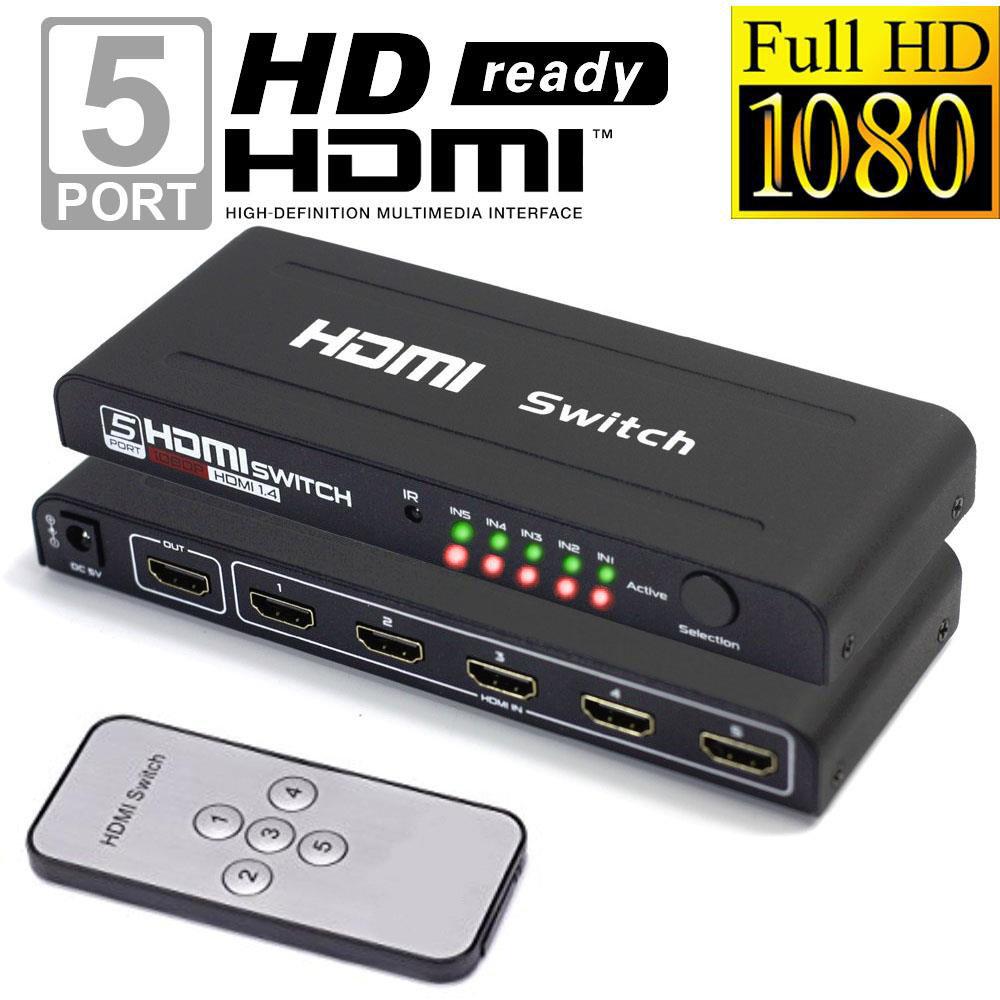 Commutateur HDMI 1.4 à 5 ports avec télécommande IR - 11
