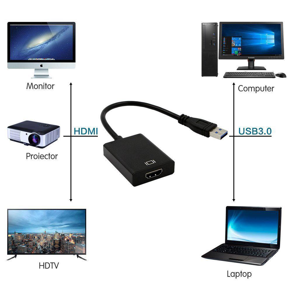 Adaptateur USB Vers HDMI Femelle 11