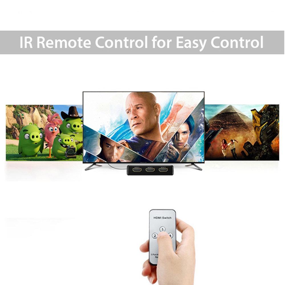 Commutateur HDMI 3 ports avec télécommande IR-11