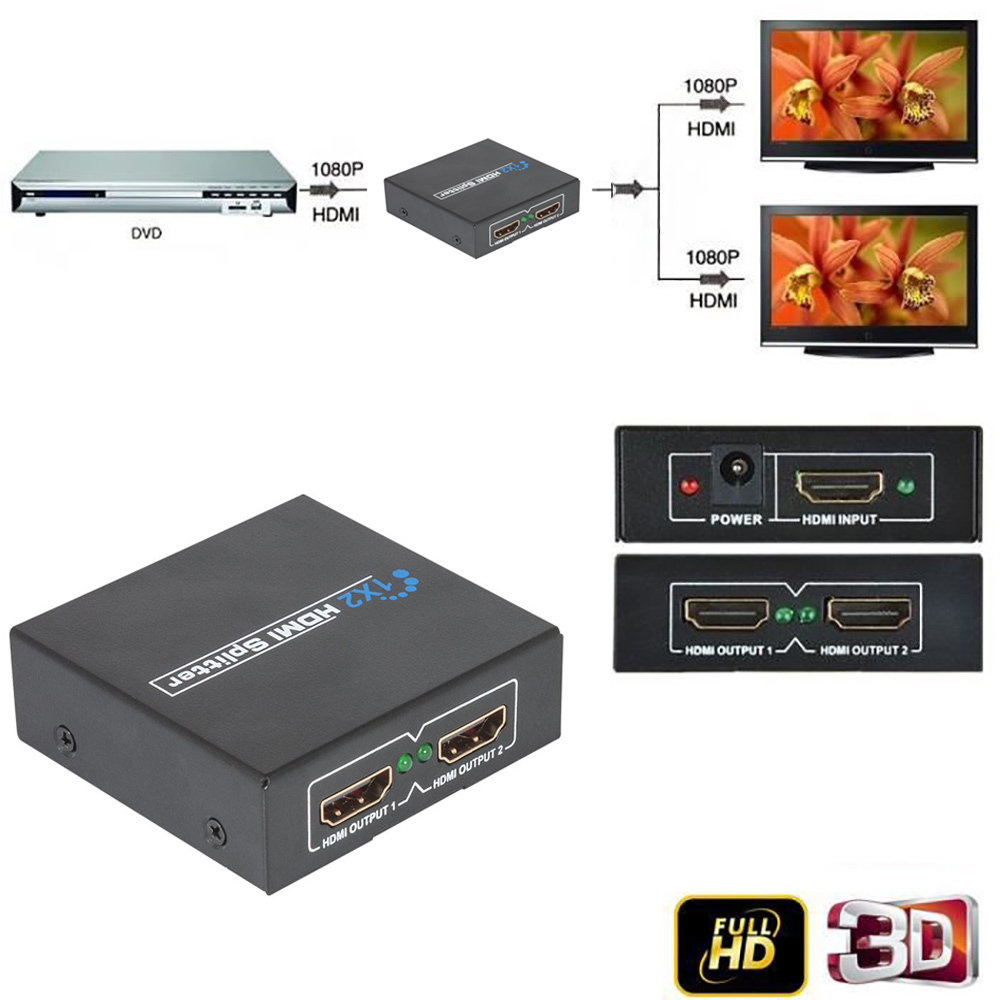 HDMI SPLITTER 1x2 1080P 3D Ver 1.4-11