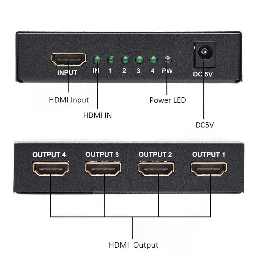 HDMI SPLITTER 1x4 1080P 3D Ver 1.4-11