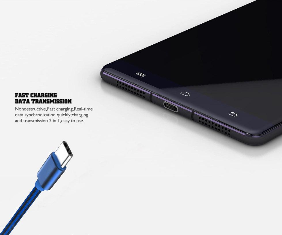 Câble USB Type-C LDNIO original pour Samsung Galaxy S8 & S8+ - Bleu-11