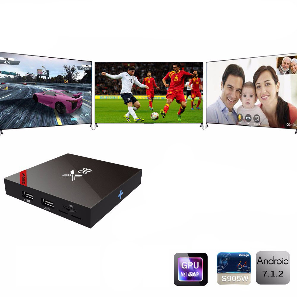 Smart TV BOX Ultra HD 4K X96-13