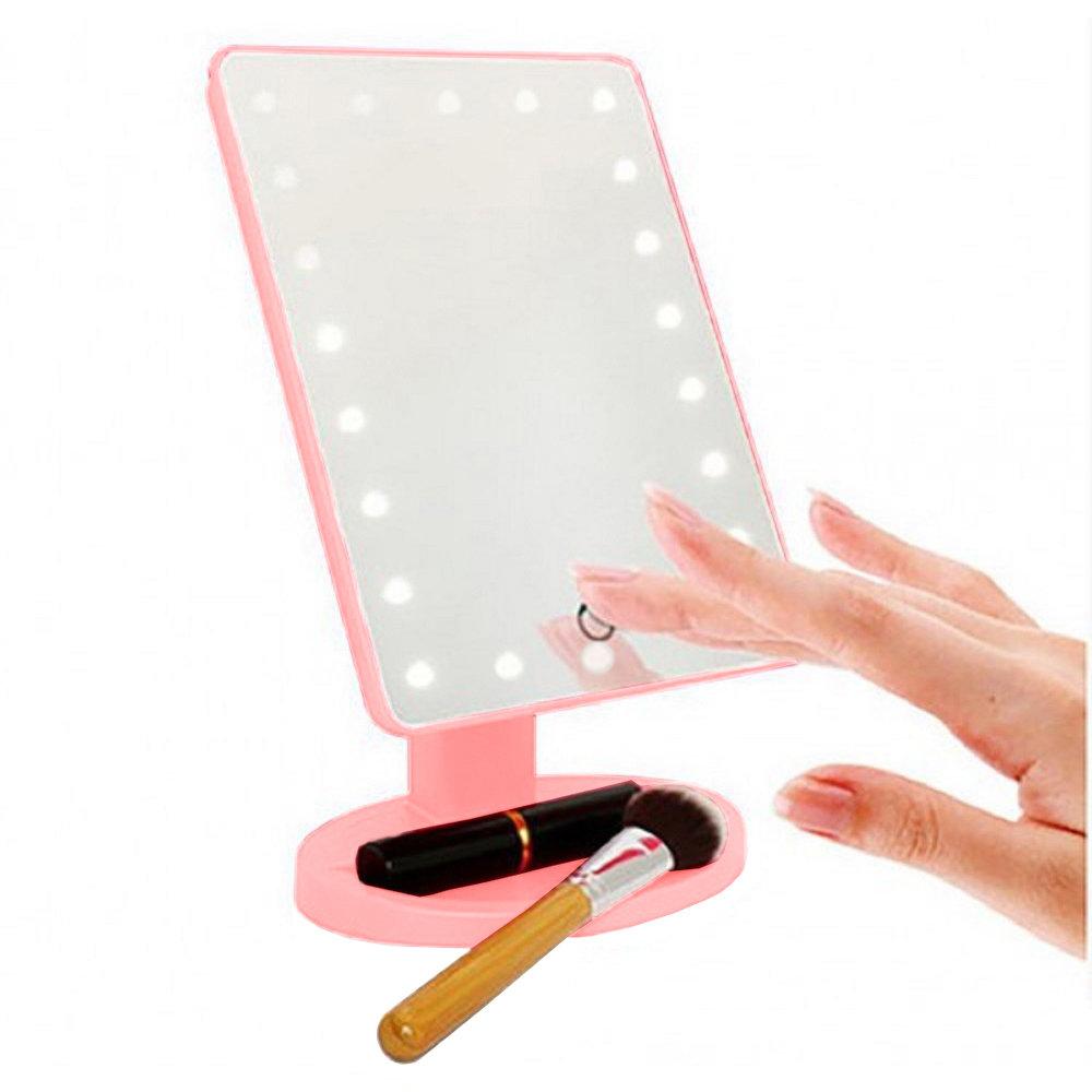 Miroir de maquillage compact avec 22 LED-11