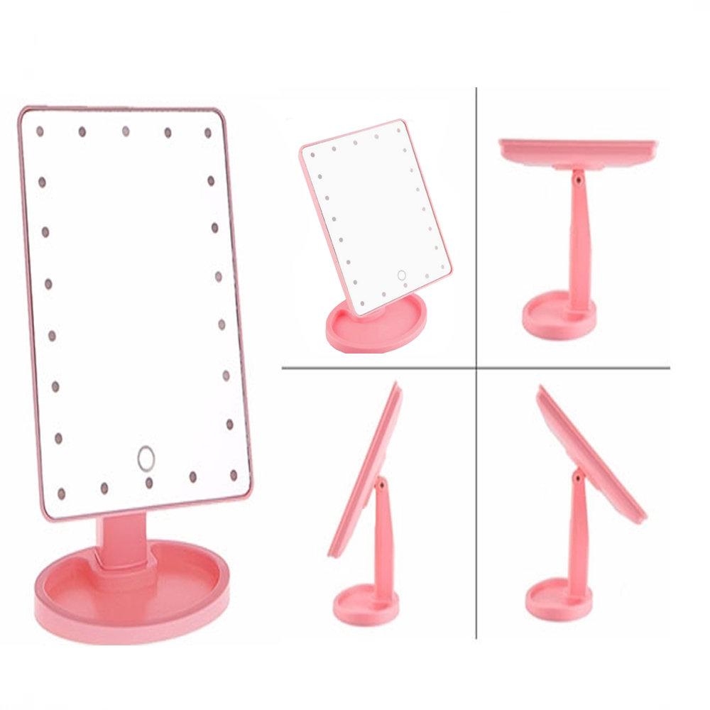 Miroir de maquillage compact avec 22 LED-12