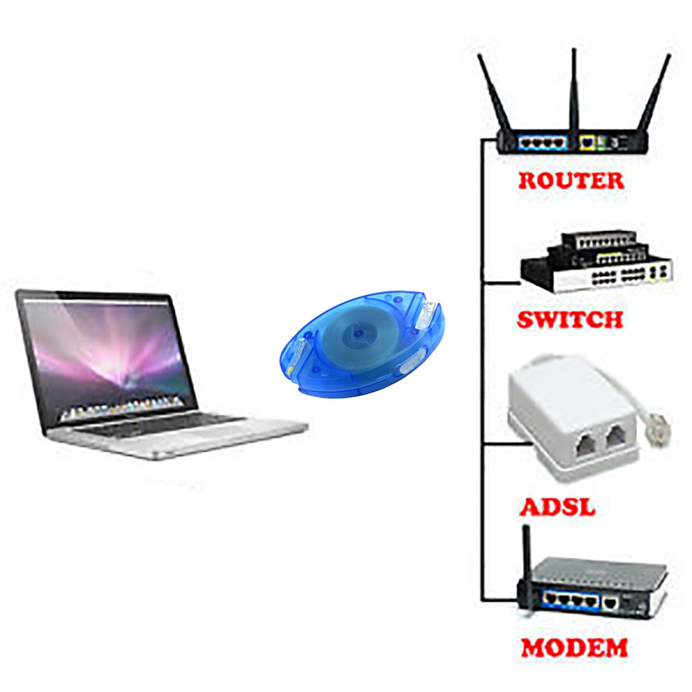 Câble réseau RJ45 Ethernet rétractable 3 Mètres-11